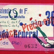 Coleccionismo deportivo: ENTRADA FUTBOL , VALENCIA CF SEVILLA , CAMPO MESTALLA , 1966 , ORIGINAL , EF3598. Lote 49559285