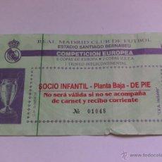 Coleccionismo deportivo: ENTRADA DE FUTBOL REAL MADRID COMPETICIÓN EUROPEA. Lote 49757010