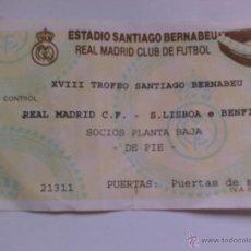 Coleccionismo deportivo: ENTRADA DE FUTBOL REAL MADRID COMPETICIÓN EUROPEA R MADRID S LISBOA. Lote 49757160