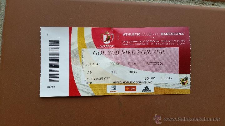 entrada final copa del rey 2015. fc barcelona - - Comprar Entradas ...