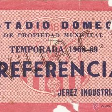 Coleccionismo deportivo: ENTRADA JEREZ INDUSTRIAL-SEVILLA FC.29/08/1968.. Lote 50071655