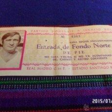 Coleccionismo deportivo: ENTRADA PARTIDO HOMENAJE IGNACIO ZOCO AÑO 1974 ESTADIO SANTIAGO BERNABÉU REAL MADRID. REGALO PIRRI.. Lote 50248979