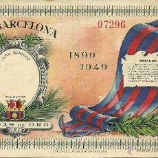 Coleccionismo deportivo: (F-902)ENTRADA BODAS DE ORO C.F.BARCELONA,1899-1949. Lote 50291481
