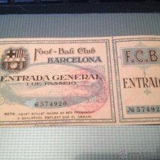 Coleccionismo deportivo: ENTRADA CF DEL FOOT - BALL BARCELONA FUTBOL CLUB F.C BARÇA FC 1927 IMPRESIONANTE. Lote 50374054