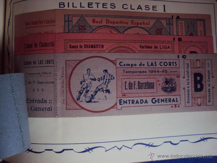 (F-0779)CATALOGO DE PROPAGANDA DE FUTBOL 1944-45,CARTELES Y ENTRADAS (Coleccionismo Deportivo - Documentos de Deportes - Entradas de Fútbol)