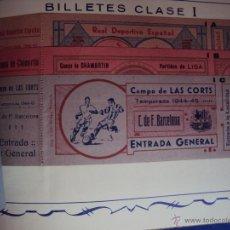 Coleccionismo deportivo: (F-0779)CATALOGO DE PROPAGANDA DE FUTBOL 1944-45,CARTELES Y ENTRADAS. Lote 50528850