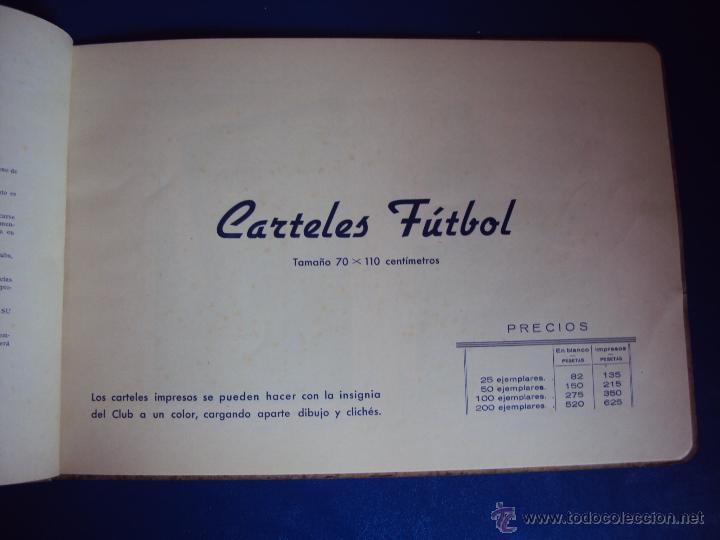 Coleccionismo deportivo: (F-0779)CATALOGO DE PROPAGANDA DE FUTBOL 1944-45,CARTELES Y ENTRADAS - Foto 4 - 50528850
