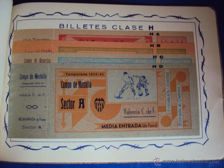 Coleccionismo deportivo: (F-0779)CATALOGO DE PROPAGANDA DE FUTBOL 1944-45,CARTELES Y ENTRADAS - Foto 9 - 50528850