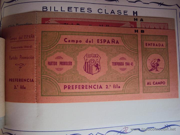 Coleccionismo deportivo: (F-0779)CATALOGO DE PROPAGANDA DE FUTBOL 1944-45,CARTELES Y ENTRADAS - Foto 11 - 50528850