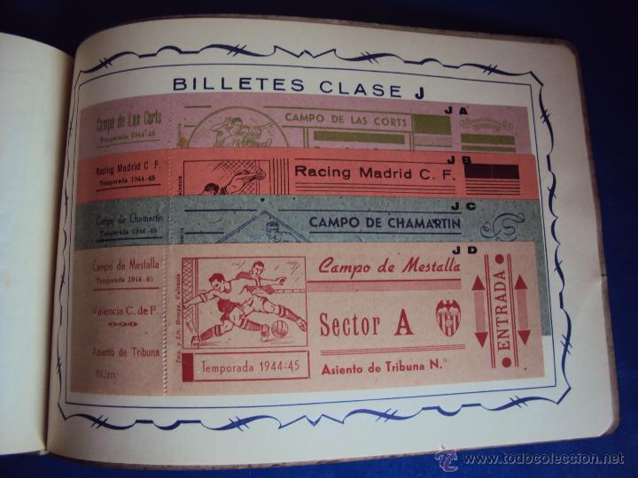 Coleccionismo deportivo: (F-0779)CATALOGO DE PROPAGANDA DE FUTBOL 1944-45,CARTELES Y ENTRADAS - Foto 17 - 50528850