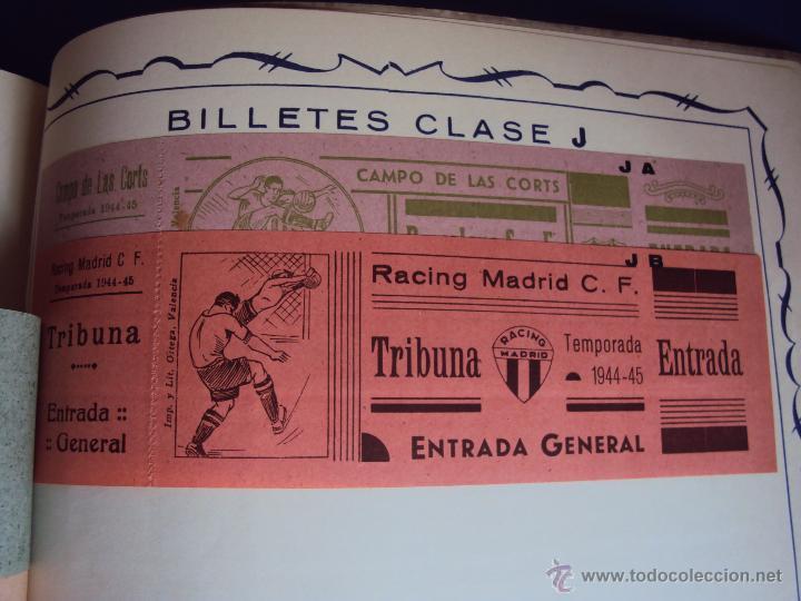 Coleccionismo deportivo: (F-0779)CATALOGO DE PROPAGANDA DE FUTBOL 1944-45,CARTELES Y ENTRADAS - Foto 19 - 50528850