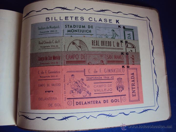 Coleccionismo deportivo: (F-0779)CATALOGO DE PROPAGANDA DE FUTBOL 1944-45,CARTELES Y ENTRADAS - Foto 21 - 50528850