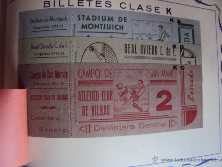 Coleccionismo deportivo: (F-0779)CATALOGO DE PROPAGANDA DE FUTBOL 1944-45,CARTELES Y ENTRADAS - Foto 22 - 50528850