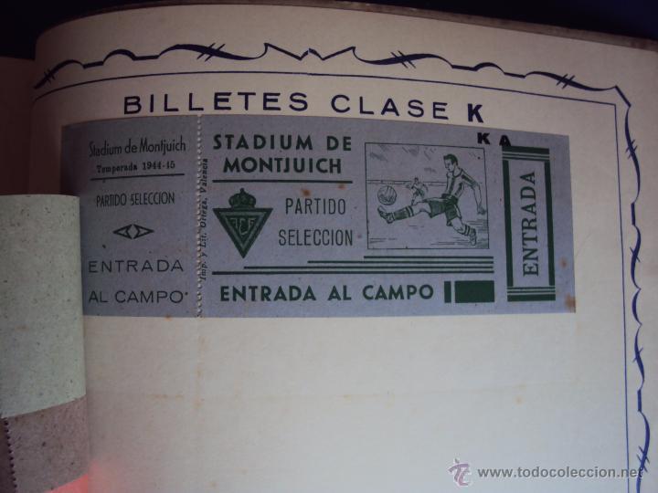 Coleccionismo deportivo: (F-0779)CATALOGO DE PROPAGANDA DE FUTBOL 1944-45,CARTELES Y ENTRADAS - Foto 24 - 50528850