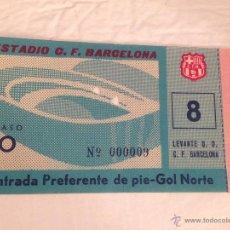 Coleccionismo deportivo: R408 ENTRADA TICKET BARCELONA LEVANTE LIGA TEMPORADA 1963 1964. Lote 50575156