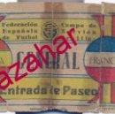 Coleccionismo deportivo: ENTRADA. ESPAÑA - FRANCIA. 15 MARZO 1942. CAMPO DE FUTBOL DE NERVION. SEVILLA. INTERNACIONAL.. Lote 51072130