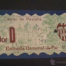 Coleccionismo deportivo: ENTRADA CAMPO DE MESTALLA FUTBOL VALENCIA VALLADOLID COPA 24 ABRIL DE 1933. Lote 51220318