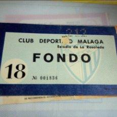 Coleccionismo deportivo: ENTRADA FOOTBALL TICKET FUTBOL ANTIGUA OLD CD MALAGA. Lote 51409097