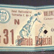 Coleccionismo deportivo: ENTRADA CAMPO DE MESTALLA FUTBOL VALENCIA REAL VALLADOLID 8 ABRIL 1956 CAMPEONATO LIGA. Lote 51511312