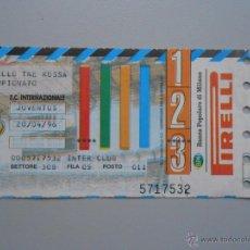 Coleccionismo deportivo: ENTRADA PARTIDO DE FUTBOL INTER DE MILAN INTERNAZIONALE JUVENTUS. ABRIL 1996. TDKP5. Lote 51945144