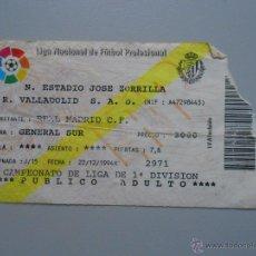 Coleccionismo deportivo: ENTRADA PARTIDO DE FUTBOL REAL VALLADOLID VS. REAL SOCIEDAD. DICIEMBRE 1994. TDKP5. Lote 51945451