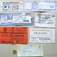 Coleccionismo deportivo: LOTE 20 ENTRADAS FUTBOL COMUNIDAD VALENCIA VARIOS EQUIPOS, ORIGINALES, ENTRADA L/3 . Lote 51980213