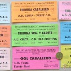Coleccionismo deportivo: LOTE 24 ENTRADAS FUTBOL VARIOS EQUIPOS DE ESPAÑA, ORIGINALES ENTRADA L/18 . Lote 51981412