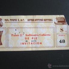 Coleccionismo deportivo: ENTRADA DE FÚTBOL REAL MADRID. SANTIAGO BERNABEU. COMPETICIÓN EUROPEA. . Lote 52384001