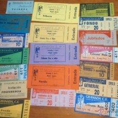Coleccionismo deportivo: GRANADA CF ENTRADAS ANTIGUO LOS CARMENES LOTE DE 20. Lote 52395488
