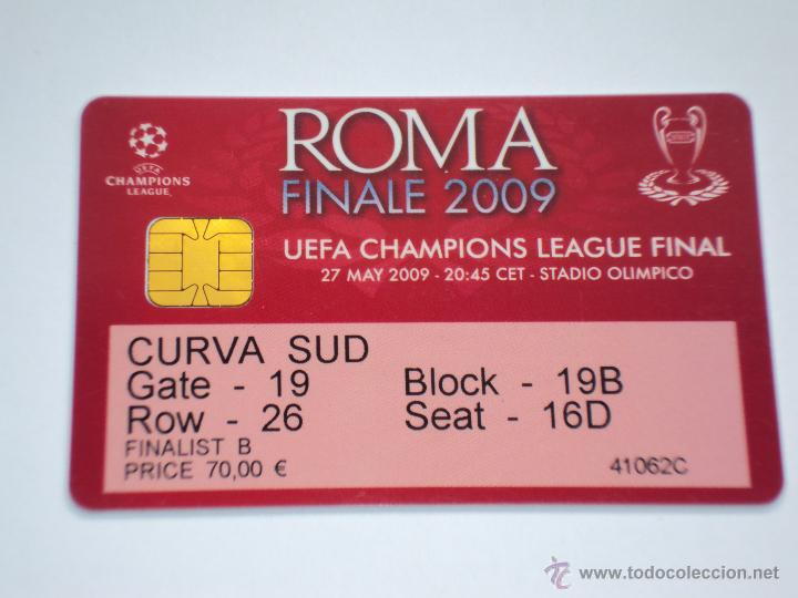 F c  barcelona  final champions roma 2009  - Sold at Auction