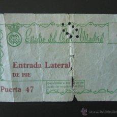 Coleccionismo deportivo: ENTRADA FÚTBOL ESTADIO DEL REAL MADRID. . Lote 52779985