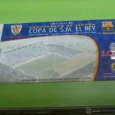 Coleccionismo deportivo: ENTRADA ATHLETIC CLUB DE BILBAO - F.C. BARCELONA (FINAL COPA DEL REY 2009). Lote 52919712