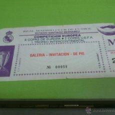 Coleccionismo deportivo: ENTRADA REAL MADRID - MOSS 1988-1989 (COPA DE EUROPA). Lote 52921956