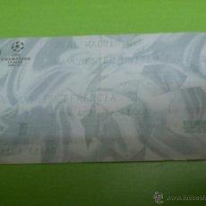 Coleccionismo deportivo: ENTRADA REAL MADRID - MANCHESTER UNITED 2002-2003 (CHAMPIONS LEAGUE). Lote 52945971