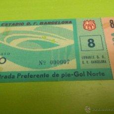 Coleccionismo deportivo: ENTRADA F.C. BARCELONA - LEVANTE 1963-1964 (1 MARZO 1964, RESULTADO 6-2). Lote 52946632