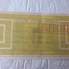 Coleccionismo deportivo: R7 ENTRADA TICKET LEVANTE MURCIA LIGA TEMPORADA 1989 1990. Lote 53676026