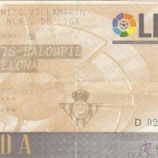 Coleccionismo deportivo: ENTRADA R.BETIS-FC.BARCELONA.19/01/1997.. Lote 53714057