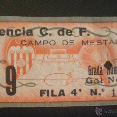 Coleccionismo deportivo: ENTRADA VALENCIA C.F. DE 1954 CAMPO DE MESTALLA. Lote 53745472