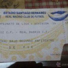 Coleccionismo deportivo: ENTRADA PARTIDO DE FUTBOL - REAL MADRID - CADIZ - ESTADIO SANTIAGO BERNABEU - . Lote 53747122
