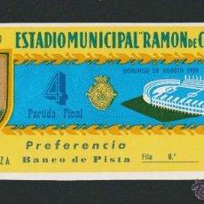Coleccionismo deportivo: ENTRADA V TROFEO CARRANZA.FINAL.REAL MADRID-F.C.BARCELONA.30 DE AGOSTO DE 1959.TICKET.. Lote 53759895