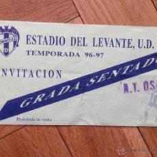 Coleccionismo deportivo: R17 ENTRADA TICKET LEVANTE OSASUNA LIGA TEMPORADA 1996 1997. Lote 53896674