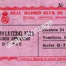 Coleccionismo deportivo: ANTIGUA ENTRADA SANTIAGO BERNABEU, REAL MADRID,C.F.. Lote 53901177