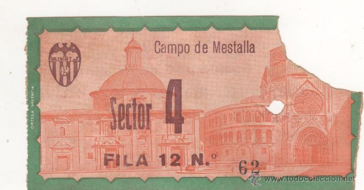 CAMPO DE MESTALLA. ENTRADA ORIGINAL. PARTIDO COPA DEL GENERALÍSIMO. AÑOS 1950S (Coleccionismo Deportivo - Documentos de Deportes - Entradas de Fútbol)