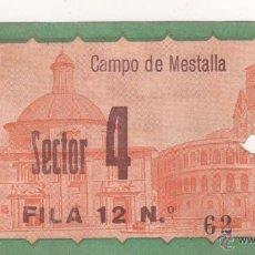 Coleccionismo deportivo: CAMPO DE MESTALLA. ENTRADA ORIGINAL. PARTIDO COPA DEL GENERALÍSIMO. AÑOS 1950S. Lote 54318185