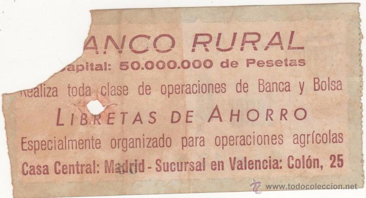 Coleccionismo deportivo: Campo de Mestalla. Entrada original. Partido Copa del Generalísimo. Años 1950s - Foto 2 - 54318185