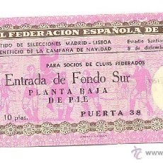 Coleccionismo deportivo: ENTRADA BERNABÉU. SELECCIONES MADRID - LISBOA. 8 DICIEMBRE 1955.. Lote 54653741