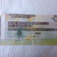 Coleccionismo deportivo: R278 ENTRADA TICKET REAL BETIS BARCELONA COPA DEL REY 2010 2011. Lote 54830468
