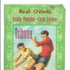 Coleccionismo deportivo: ENTRADA DE FUTBOL. REAL OVIEDO. ESTADIO MUNICIPAL CARLOS TARTIERE. TRIBUNA. SILLÓN.. Lote 54869901