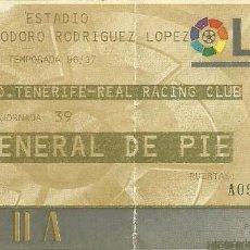 Coleccionismo deportivo: 25/5/1997CD TENERIFE-R. RACING C. DE SANTANDER.HELIODORO RODRÍGUEZ LÓPEZ.J.39,1ª DIV. 1996/97.. Lote 55308669