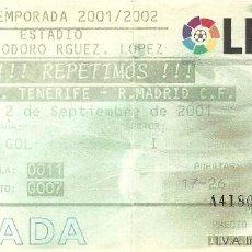Coleccionismo deportivo: 2/9/2001:CD TENERIFE-REAL MADRID.HELIODORO RODRÍGUEZ LÓPEZ.GRADA GOL.. Lote 55315559